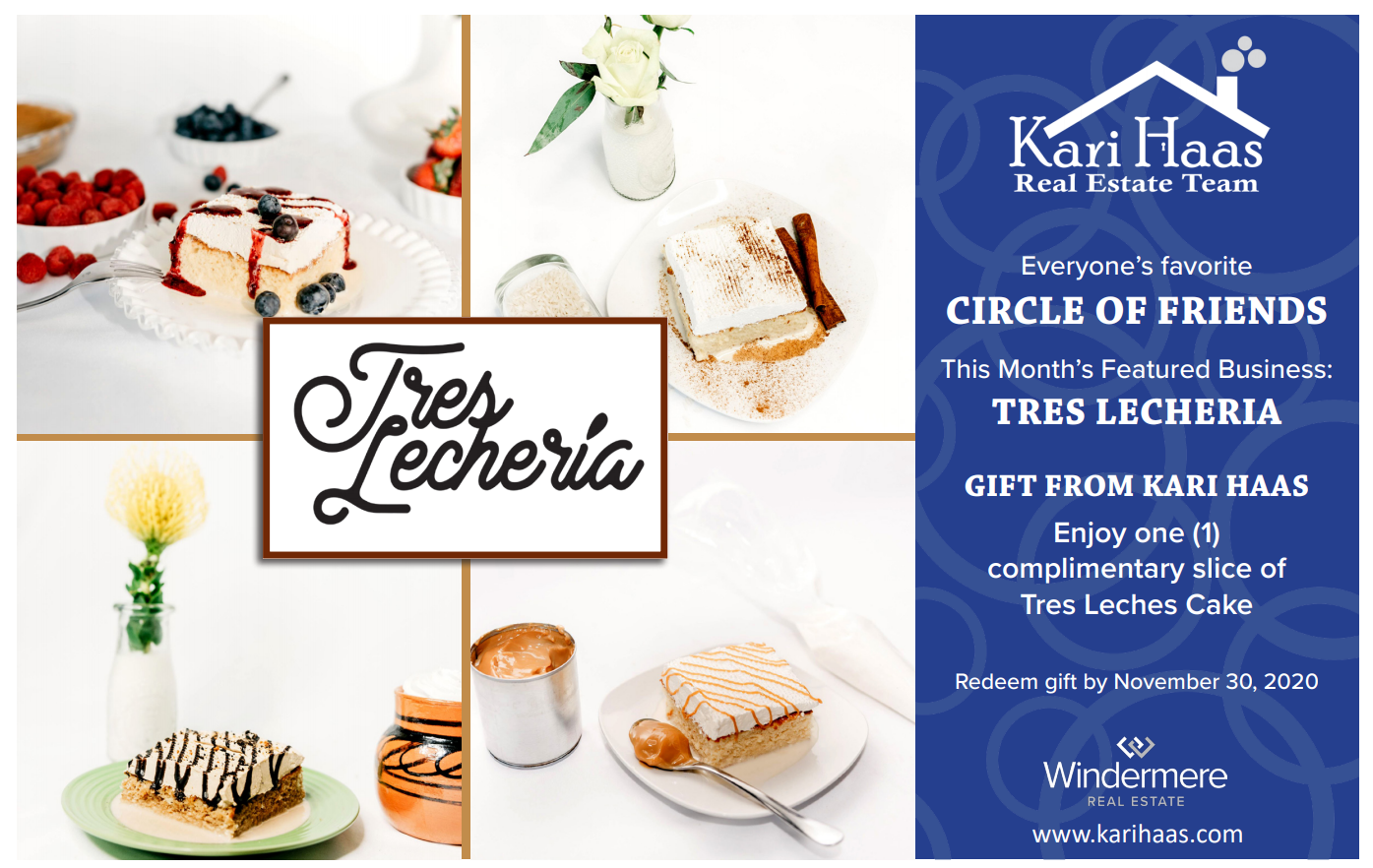 Tres Lecheria Circle of Friends Postcard