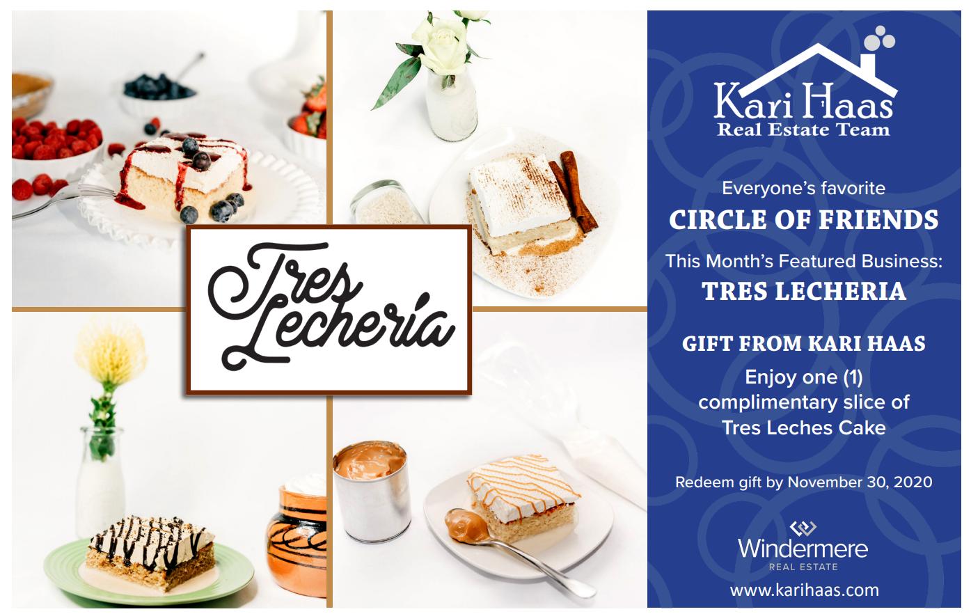 Tres Lecheria Circle of Friends Postcard