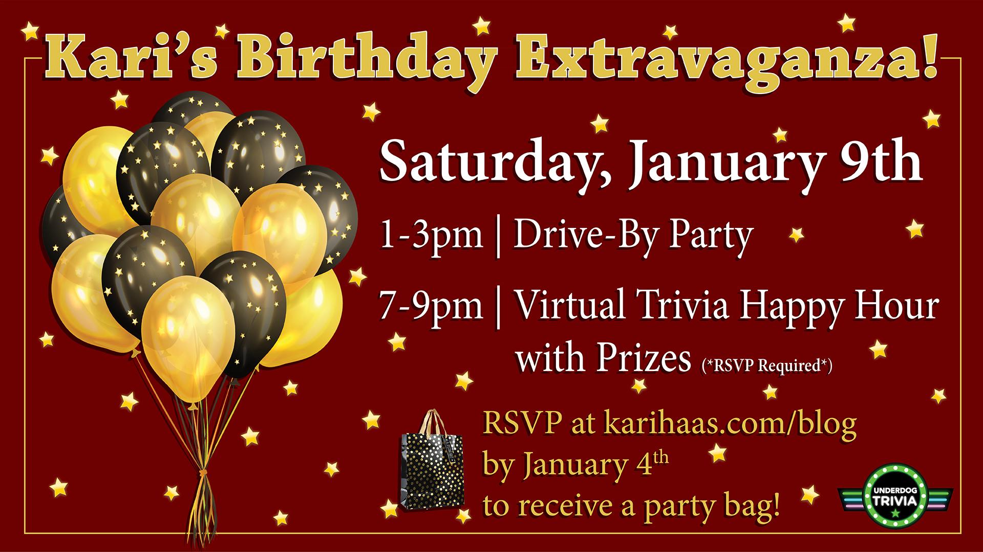 Kari's Birthday Extravaganza Graphic