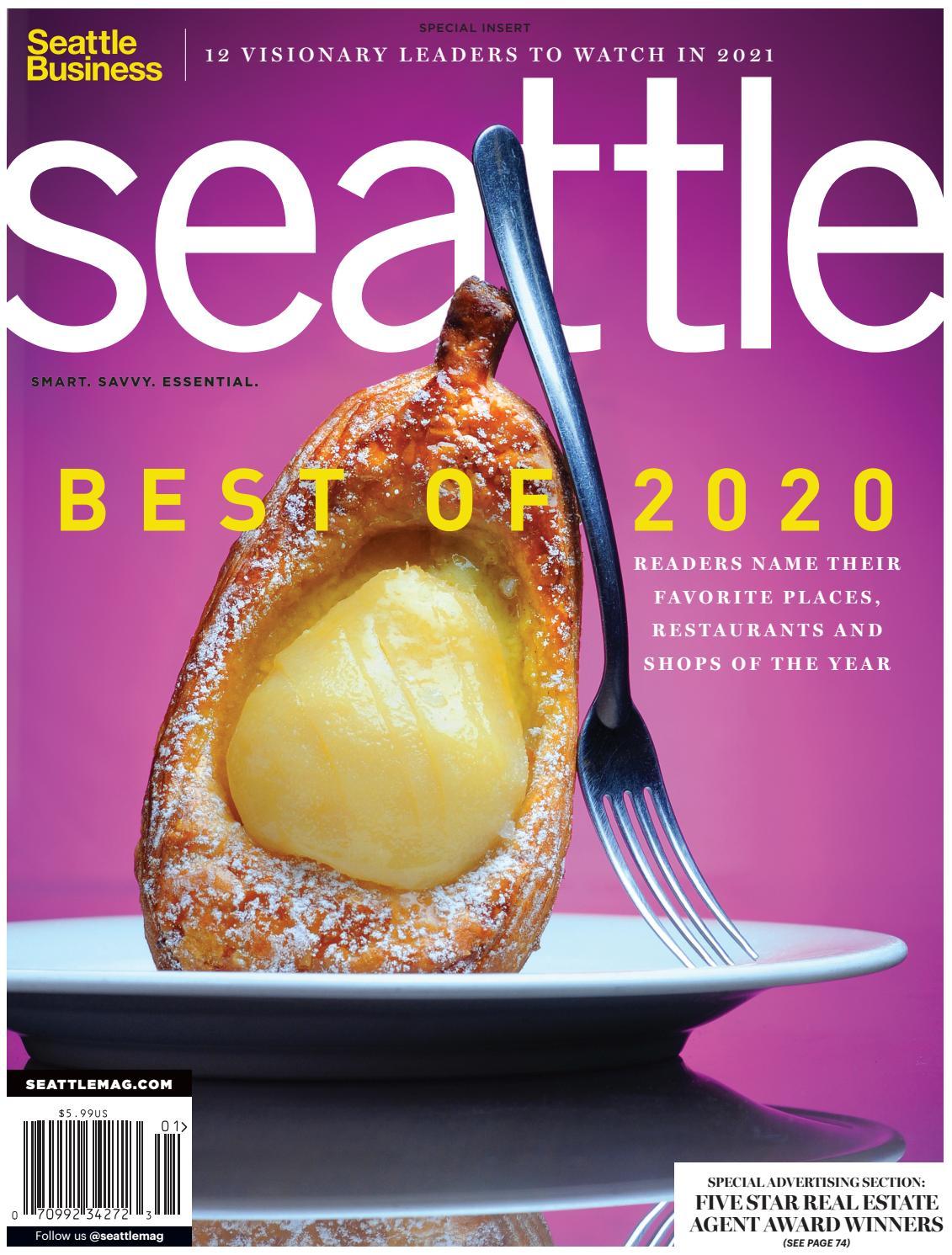 Seattle Magazine Cover December 2020